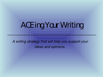 ACE Writing Strategy