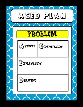 ACED Plan for Problem Solving
