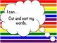 ACK, ICK, OCK & UCK Word Study Sort and Activities