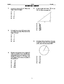 ACT Math Prep - Geometry