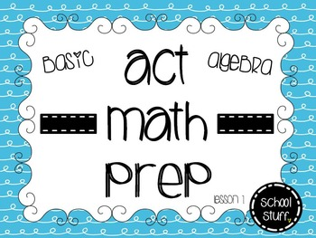 ACT Math Prep Lesson 1: Finding 'x' Part 1