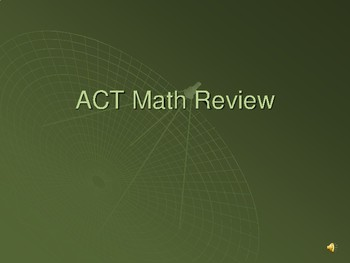 ACT Prep Math Course