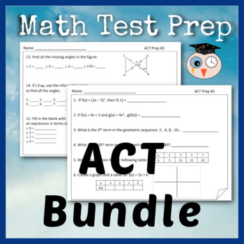 ACT - Test Prep Bundle