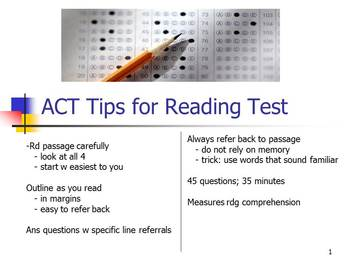 ACT Tips on the Reading Test