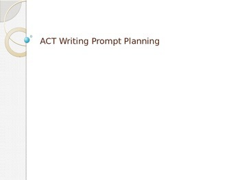 ACT Writing Prompt Planning Practice - Over 30 prompts!