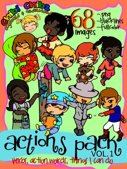 ACTIONS CLIPART PACK VOL.1 {Action Words, Verbs, Things I Can Do}