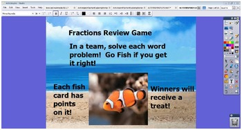 ACTIVINSPIRE FLIPCHART Fractions All Operations Real World