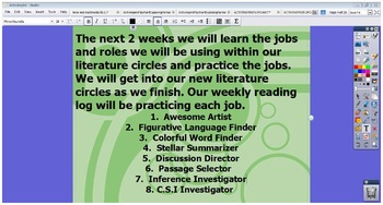 ACTIVINSPIRE FLIPCHART Literature Circles Common Core 5th Grade