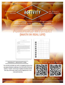 ACTIVITY - Forensics Mystery (Science)