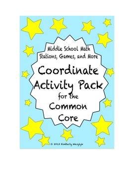 ACTIVITY PACK Coordinate Math Stations for Common Core Six