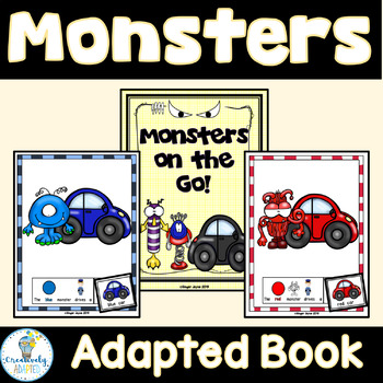ADAPTED BOOK-Monsters (PreK-K/Autism/Special Education)