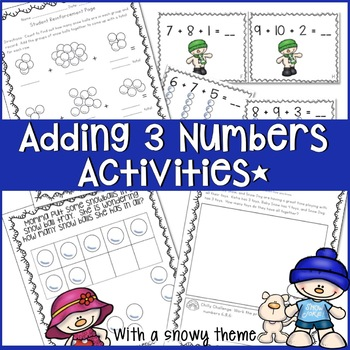 ADDING 3 NUMBERS COMPLETE 2 WEEK UNIT WITH PROBLEM SOLVING