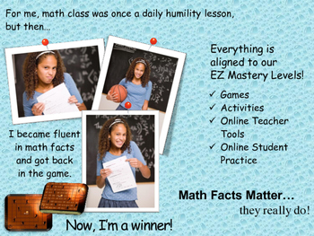 Math Facts Matter Operations and Levels