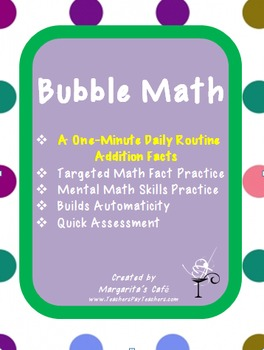 ADDITION FACTS - Routine Practice