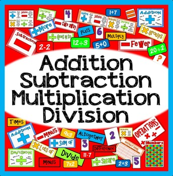 ADDITION SUBTRACTION MULTIPLICATION DIVISION TEACHING & DI