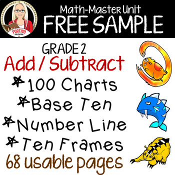 FREE! ADD/SUBTRACT with HUNDREDS CHART
