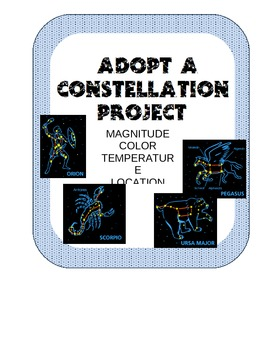 ADOPT-A-CONSTELLATION- research stars in common constellat