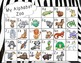 ADORABLE Animal Alphabet - Animal Print - Half Page Sized