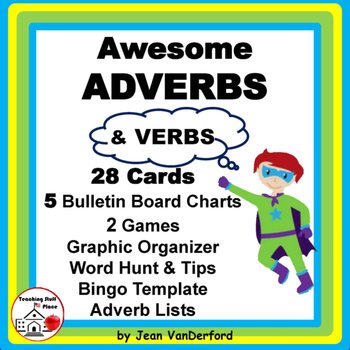 ADVERBS | Task Cards | BB Posters | Charts | ♥ Bonus | Gr.