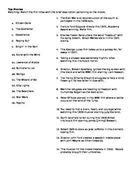 AFI Top Films Quiz