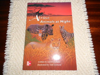AFRICA: ANIMALS AT NIGHT 2nd Grade Leveled Reading Book -