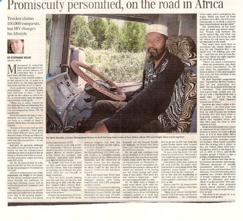 AIDS in Africa. a Statistical Analysis of a News Paper Report