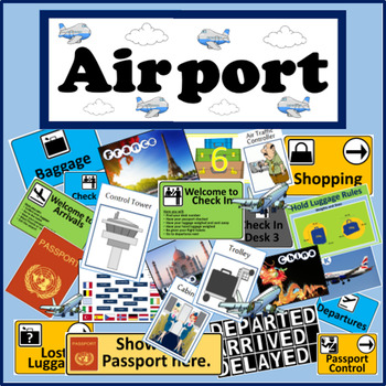AIRPORT ROLE PLAY TEACHING RESOURCES LITERACY DISPLAY GEOG