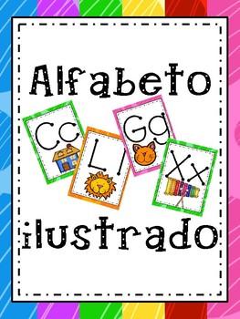 ALFABETO ILUSTRADO EN ESPAÑOL/ILLUSTRATED ALPHABET IN SPANISH