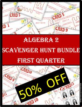 ALGEBRA 2 SCAVENGER HUNT Quarter 1 BUNDLE (9 Products)