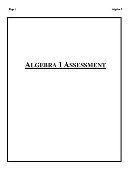 ALGEBRA I ASSESSMENT