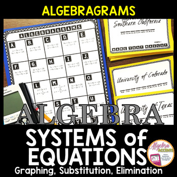 ALGEBRAGRAMS: Systems of Equations Game/Activity