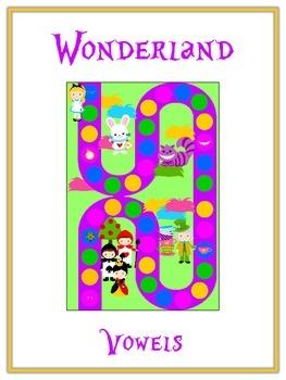 ALICE IN WONDERLAND Vowels- ELA First Grade Folder Game -