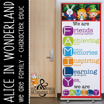 ALICE in Wonderland - Classroom Decor: LARGE BANNER, We Ar