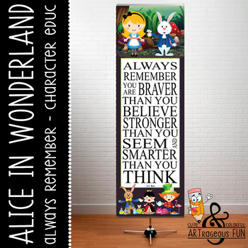 ALICE in Wonderland - Classroom Decor: X-LARGE BANNER, Alw