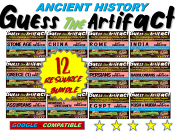 """ALL 12 """"Guess the artifact"""" games for 6th grade Ancient Ci"""