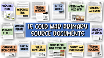 ALL 15 Cold War Primary Sources (each with guiding, text-d