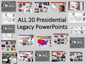 ALL 20 Presidential Legacy PPTs (300 slides, 30 handouts,