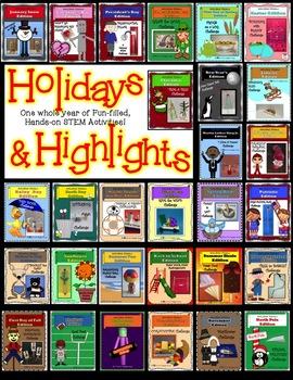 ALL 25 STEM STEAM Challenges! Holidays & Highlights Money