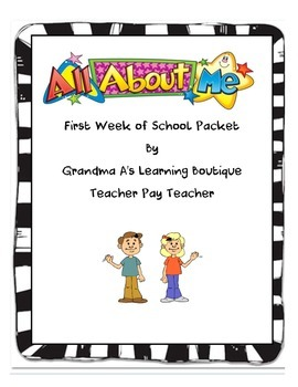ALL ABOUT ME FIRST WEEK OF SCHOOL PACKET