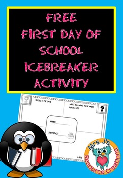 Back to school activity: All About Me