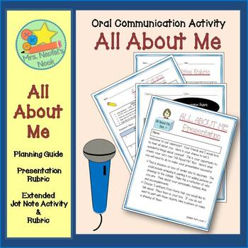 ALL ABOUT ME Presentation - Planning Guide & Presentation Rubric