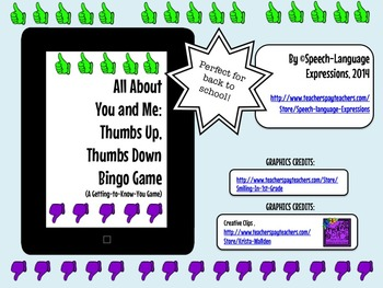 ALL ABOUT YOU AND ME BINGO GAME (Back to School, Getting t