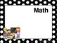 ALL-BLACK POLKA DOTS Daily Learning Targets Bulletin Board Set