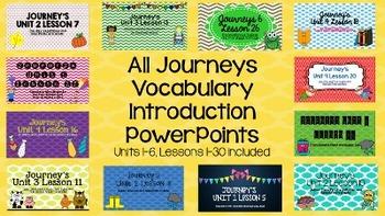 ALL Grade 2 Journeys Units 1-6 Vocabulary Introduction Pow