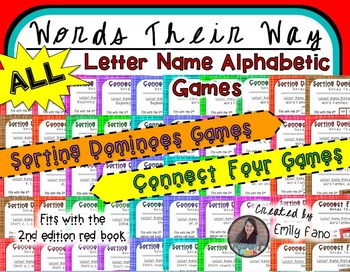 ALL Letter Name Alphabetic Games for Words Their Way