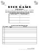 ALLER Practice in French with Locations, Dice Game