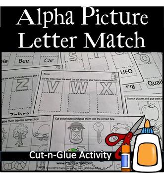 ALPHA PICTURE LETTER CUT-N-GLUE ACTIVITY