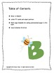 ALPHABET BOOK for LETTER B Letter-Sound-Object Recognition