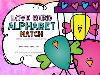 ALPHABET CENTERS: Love Bird Alphabet Match
