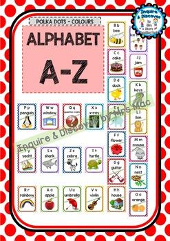 Back To School ALPHABET CHART - A to Z - Classroom Decor -